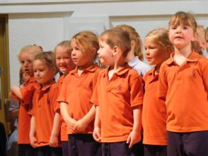 Children in Orange Uniform