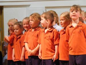Children in Orange Uniform