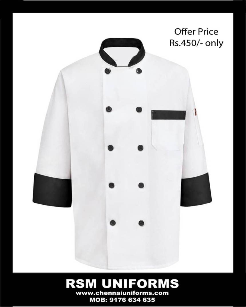 Chef coat made of 100% Garbedine material