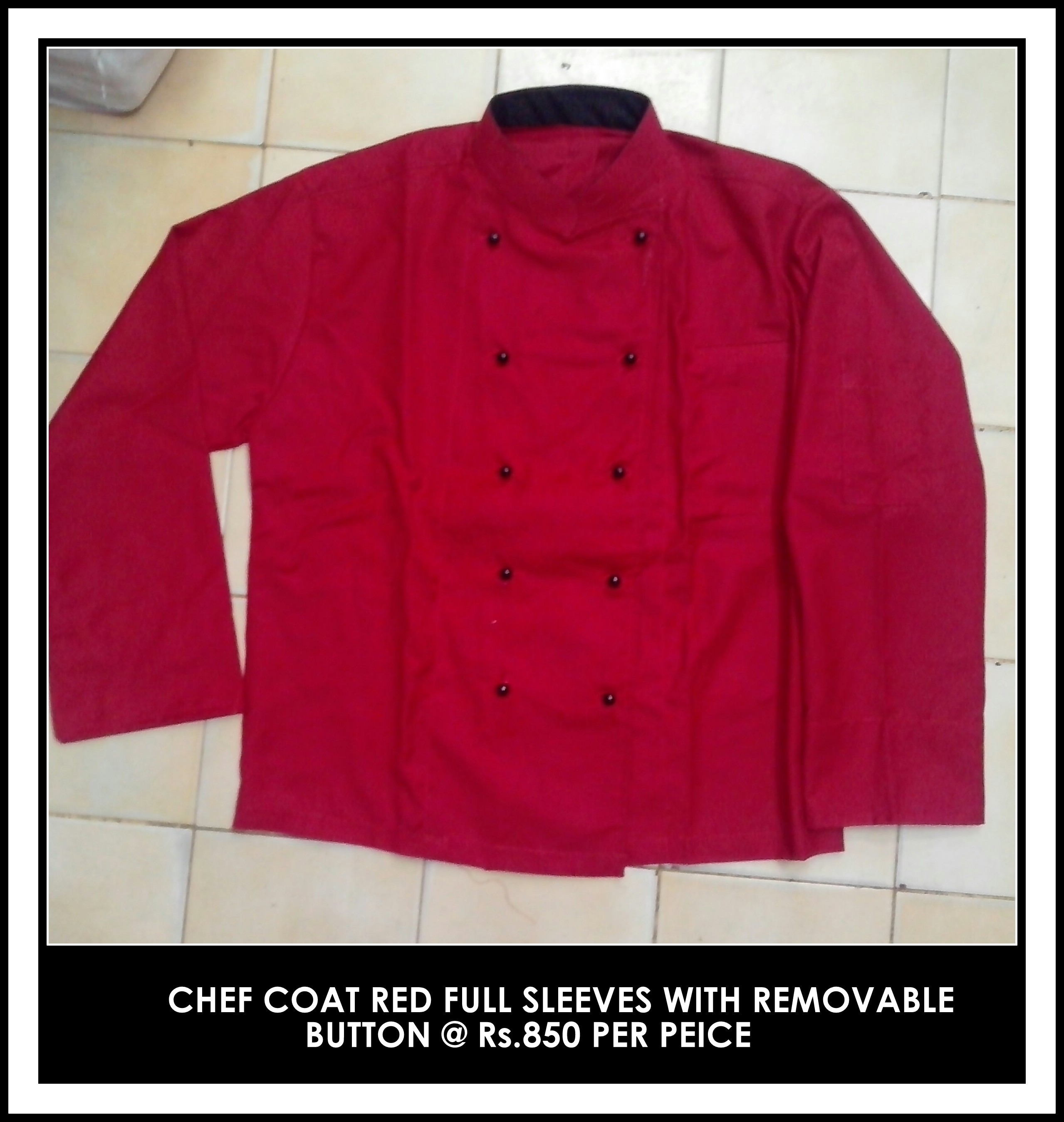 Customized Chef coat