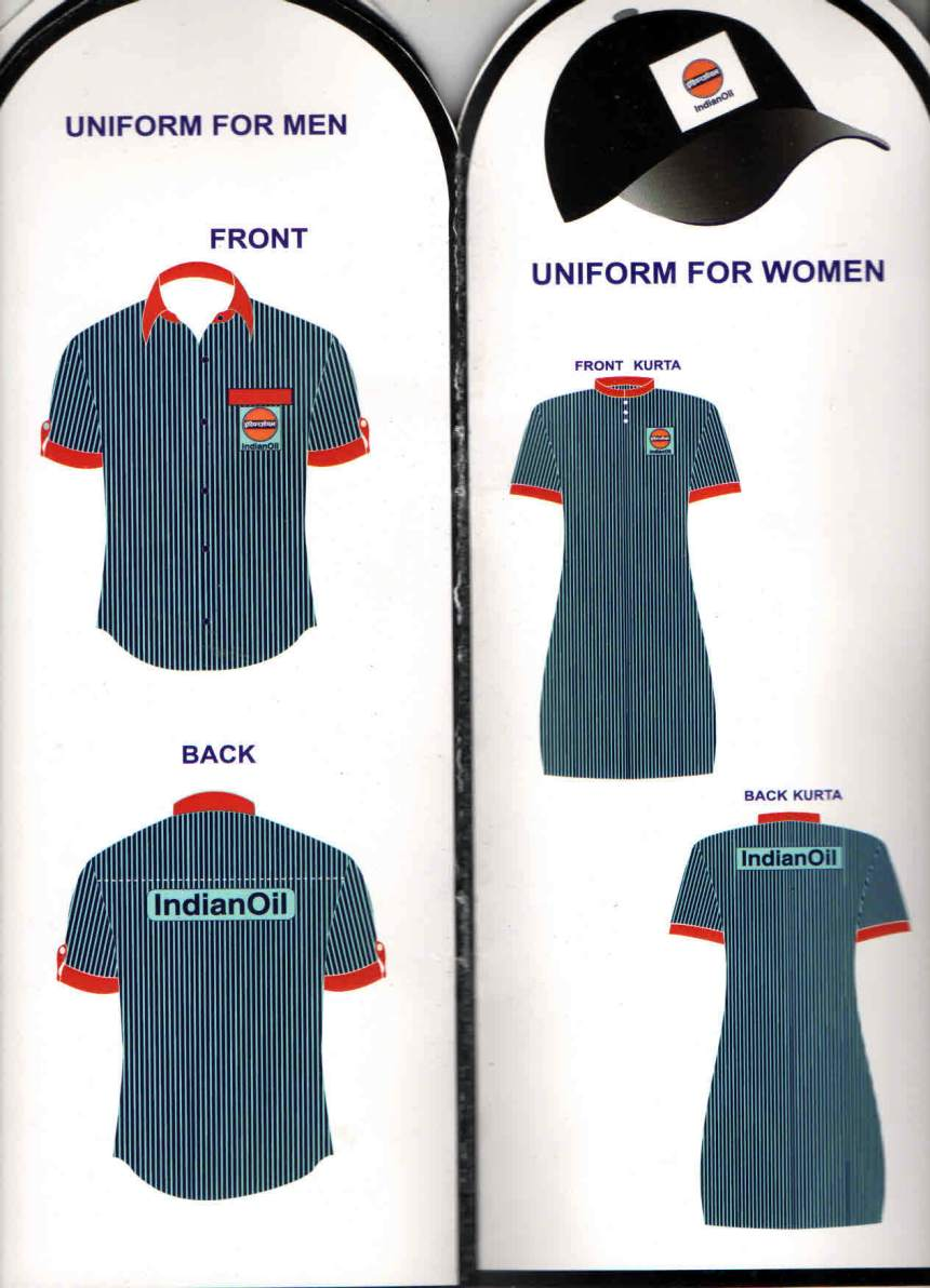 indian Oil Uniform pattern