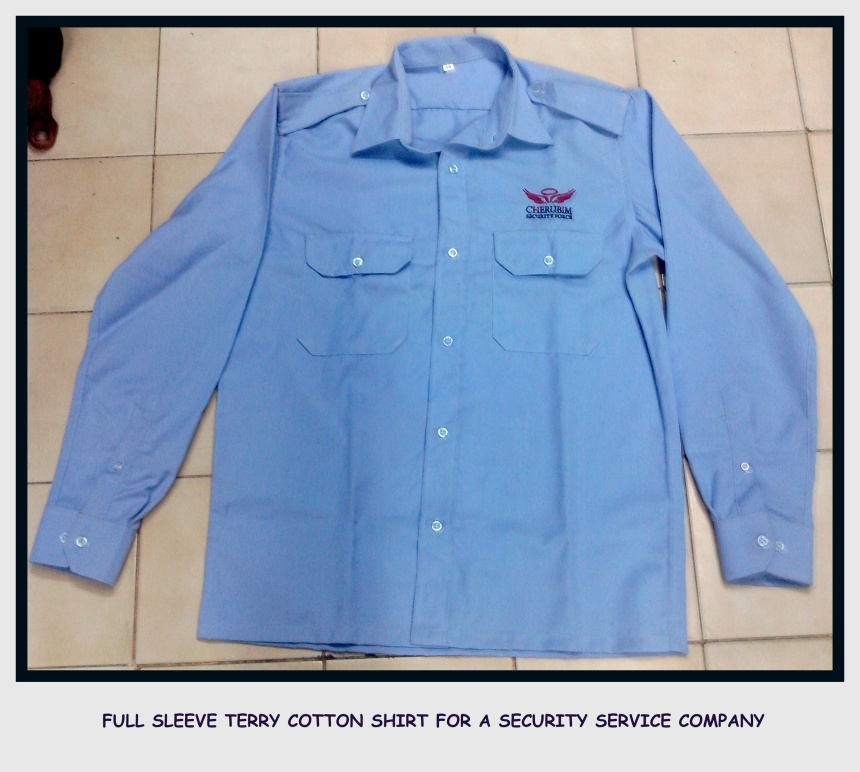 Terry Cotton Shirt - Full sleeves - Security Uniforms