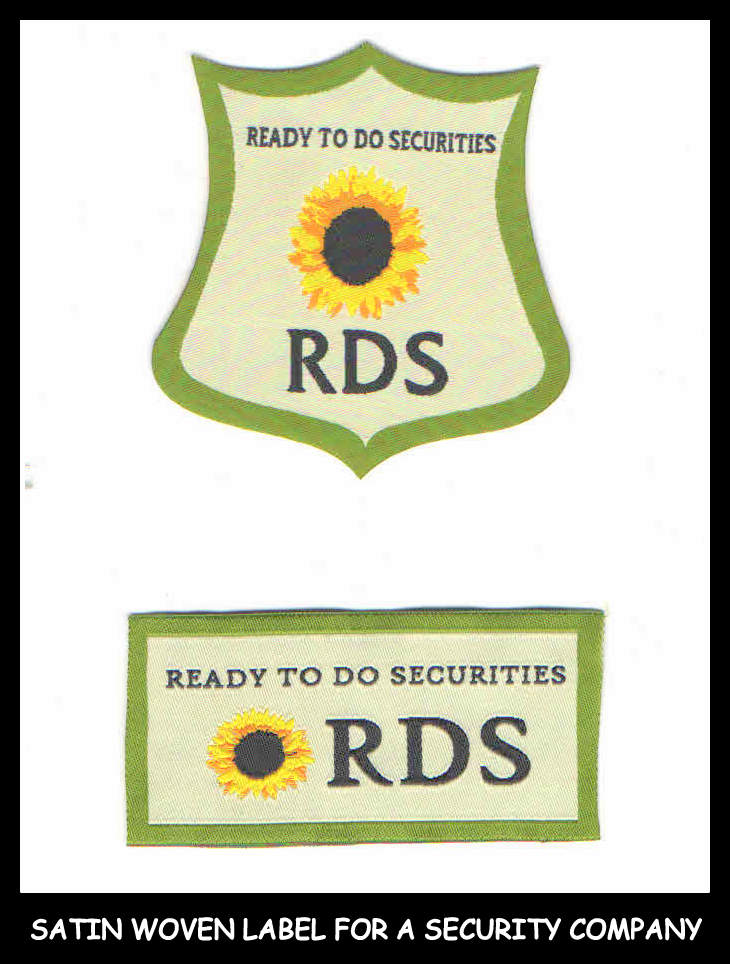 RDS woven label - Cheaper and easy to attach