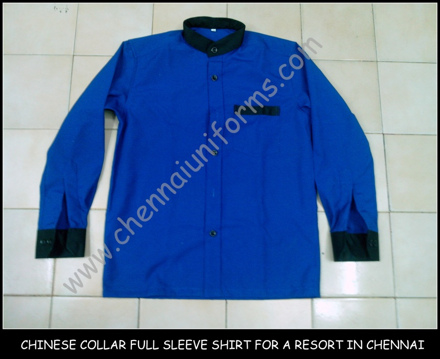 Chinese collar pattern shirt