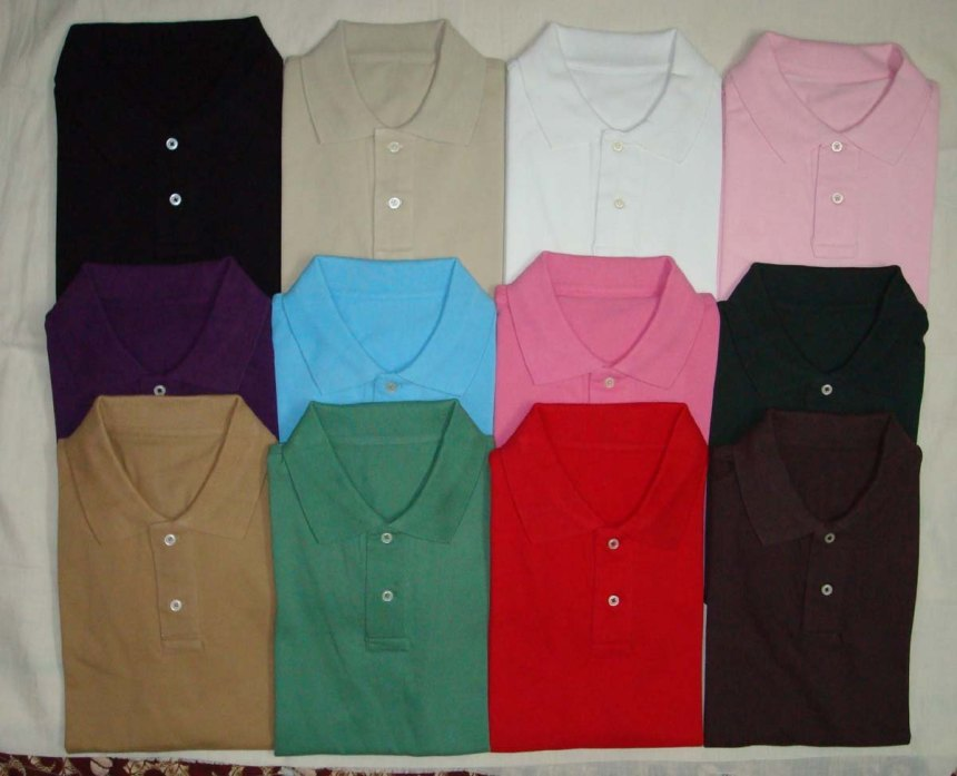 T shirts - Collared - Eleven attractive colors