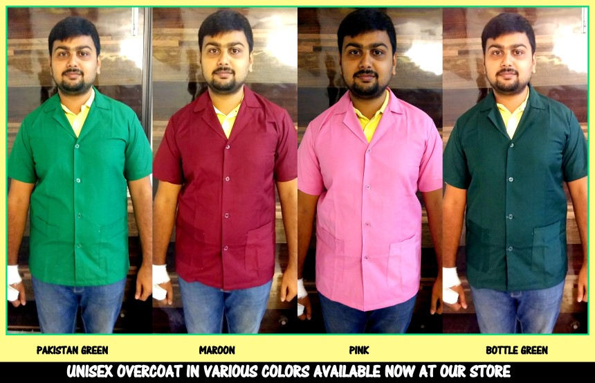 Chennai overcoats in Pakistan Green, Maroon, Pink and Bottle green color
