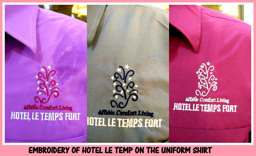 Embroidery on uniforms in Chennai