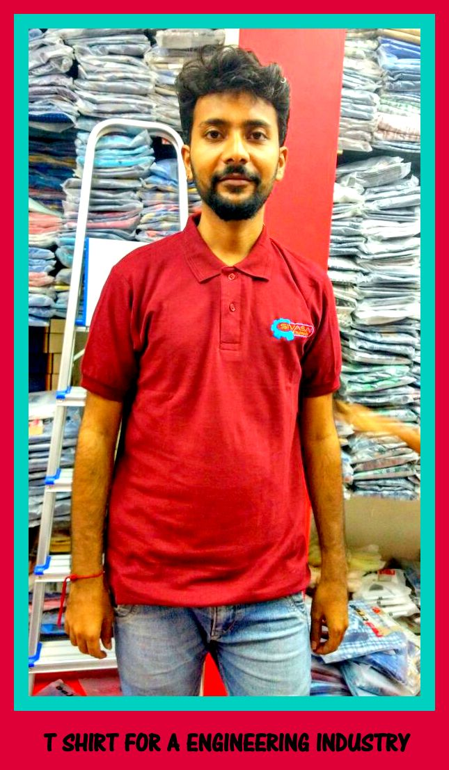 Embroidered Polo T shirt in Chennai