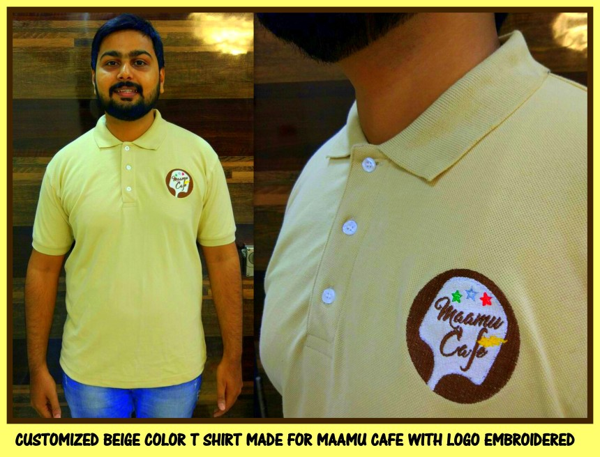 Uniform T shirt with logo embroidered